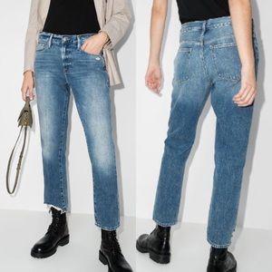 Frame Le Nouveau Straight Leg Jean